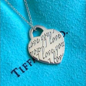Beautiful Tiffany I Love You Heart Necklace Larger